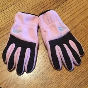 Girls North Face Gloves